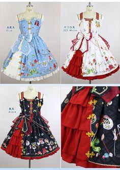 【受注生産】おもひでのあめ細工 サイドフリルジャンパースカート | metamorphose temps de fille - gothic & lolita fashion in Japan