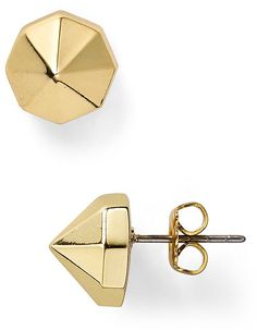 Rebecca Minkoff Round Metal Stud Earrings on shopstyle.com
