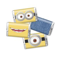 Minions Mini candy bar wrapper Despicable Me - birthday party favor decor - instant download