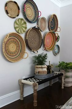 Simple and Creative Tricks Can Change Your Life: Round Wicker Chair wicker diy home decor.Wicker Redo How To Make. Dining Room Walls, Living Room Decor, Living Rooms, Bedroom Decor, Boho Chic Entryway, Wicker Shelf, Wicker Planter, Wicker Mirror, Basket Planters