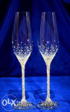 украсить бокалы на свадьбу - Поиск в Google