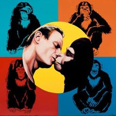 Antonio de Felipe Monkey Art, Arte Pop, Primates, Thats Not My, Monkeys, Hollywood, Culture, Movie Posters, Fictional Characters