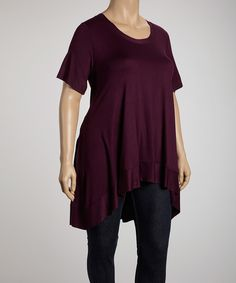 Another great find on #zulily! Eggplant Desere Top - Plus by CANARI #zulilyfinds