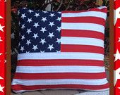 American Flag Pillow - Custom Quilted Pillow for Sale See my Etsy store
