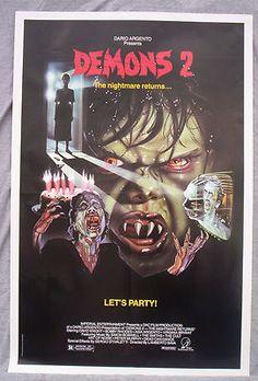 DEMONS 2 movie poster DARIO ARGENTO original video promo HORROR SEQUEL
