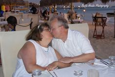 40 years of love and kisses . Dinner at Simply Fish with family members.
