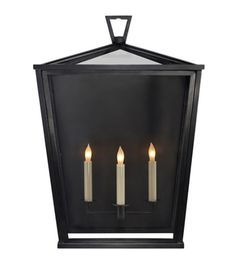 Visual Comfort CHO2041BZ Chart House Darlana Large Outdoor 3/4 Lantern in Bronze | ShopVisualComfortLights.com