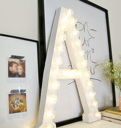 lettre lumineuse