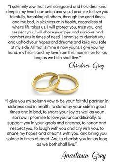 Christian & Ana vows ♡