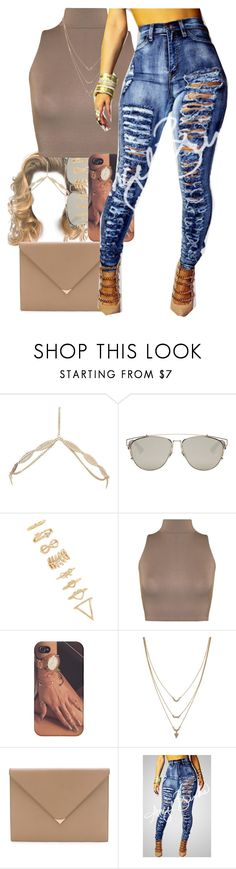 """""""Untitled #64"""" by thaofficialtrillqueen ❤ liked on Polyvore featuring Charlotte Russe, Christian Dior, Forever 21, WearAll, Jessica Simpson and Alexander Wang"""