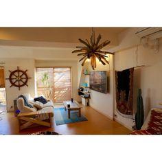 6omiさんの、部屋全体,観葉植物,ナチュラル,植物,サボテン,green,多肉植物,ウッドブラインド,流木,surf,beach,リノベーション,壁掛けテレビ,NO…