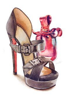 sandalias - ilustracion artist desconocido x behance