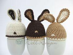 Egg warmer bunny Source by Crochet Egg Cozy, Easter Crochet, Diy Crochet, Mug Cozy Pattern, Little Gifts, Easter Crafts, Easter Eggs, Lana, Crochet Patterns