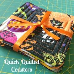 Quick Quilted Coasters- great easy tutorial - could also make mug rugs or place mats very simple and quick