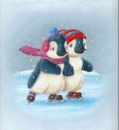 Tina Macnaughton - WH Smiths Xmas card Penguins 26a.jpg