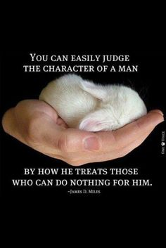 You can easily judge the character of a man by how he treats those who can do nothing for him..
