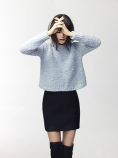 wondering about boucle knits .. not too heavy w mini skirts!