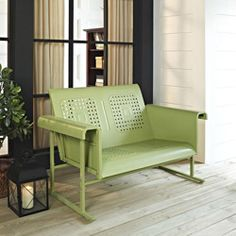 Crosley Outdoor Veranda Loveseat Glider. This company ships to Canada for free. $349. White or lime or blue?