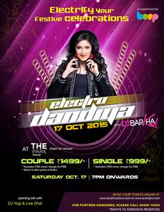 This #festive #season join DJ Barkha Kaul for an #electrifying #evening, #Saturday 17th October 7 PM onwards. Opening set with #DJYogi & #LiveDhol Call 99406 15200 for further details. #Weekend #Party #Electro