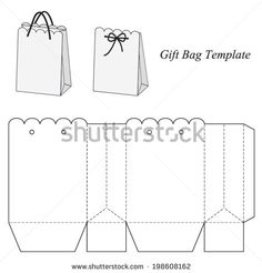 shopping bag template Shopping bag template, vector illustration - stock vector ...