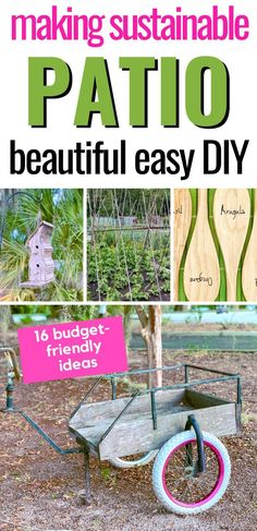 Reuse what you can to create a sustainable backyard. How to create a sustainable outdoor area and reduce waste. #outdoordecor #gardeningtips #backyarddecor Small Space Gardening, Gardening Tips, Backyard Projects, Diy Projects, Making A Compost Bin, Building A Trellis, Bamboo Garden, Backyard Makeover, Do It Yourself Home