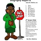 Biography reports would be great to use for Black History, President's Day, Women's History, ect. It includes 3 bio reports, 2 lessons, list of nam...