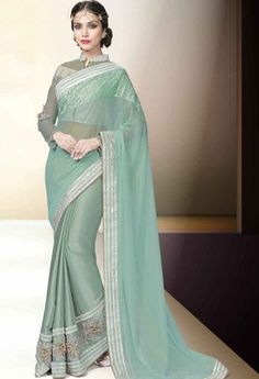 Green Lycra Designer Saree..@ fashionsbyindia.com #designs #indian #fashion #womens #style #cloths #clothes #stylish #casual #fashionsbyindia #punjabi #suits #wedding #saree #chic #elegance #beauty #outfits #fantasy #embroidered #dress #PakistaniFashion #Fashion #Longsuit #FloralEmbroidery #Fashionista #Fashion2015 #IndianWear #WeddingWear #Bridesmaid #BridalWear #PartyWear #Occasion #OnlineShopping #sari