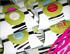zebra print favor boxes