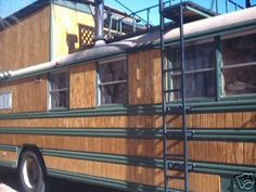 bus exterior conversion skoolie camper awesome wheels rv converted freaking turning second buses trailer short conversions story party homes visit School Bus Tiny House, School Bus Camper, Rv Bus, Bus Life, Camper Life, Camper Van, Bus Remodel, Converted School Bus, Bus Living