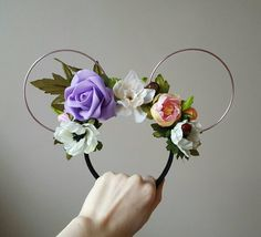 Check out this item in my Etsy shop https://www.etsy.com/uk/listing/493276614/step-into-spring-floral-mouse-ears
