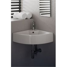 Versa corner basin white and fixing bolts Ikea, Basin Sink Bathroom, Shabby, Bathroom Images, Basement Bathroom, Contemporary, Modern, White Ceramics, Interior And Exterior