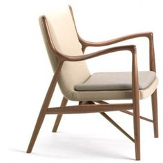 Finn Juhl was a pioneer in Danish design. In 1945 he designed this fantastic armchair