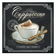 Art Print: Coffee House Cappuccino by Chad Barrett : Cappuccino Art, Coffee Latte Art, I Love Coffee, Coffee Cafe, Mocha Coffee, Starbucks Coffee, Coffee Iv, Coffee Barista, Coffee Scrub