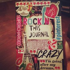 Here is my Wreck This Journal cover I made yesterday! I love how it turned out!