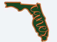Perfect for all those Miami fans! This is a Florida state outline with canes written into the middle of the state. The decal will be all one piece. You can pick between two different color choices and seven different sizes. You can also choose if you would like to have heart to show