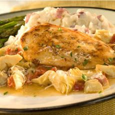 Chicken With Artichokes & Sun-dried Tomato- soooo good! Tried it tonight :)