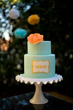 """baby shower cake.  instead of one name, have """"girlname or boyname"""" for gender reveal"""