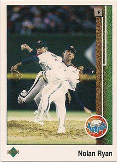 1989 Upper Deck Nolan Ryan, Houston Astros #MLB #Baseball #HallOfFame #NolanRyan