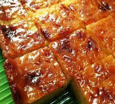"Cassava cake is one of the Filipino delicacies or ""kaka…"