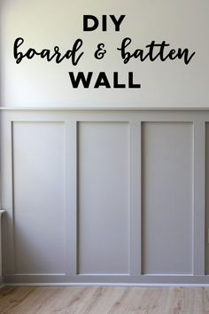 How to easily install a DIY board and batten wall in any room! This budget friendly and simple DIY board and batten accent wall will add instant character to your home! Grey board and batten with whit Diy Wand, Home Renovation, Home Remodeling, Cheap Remodeling Ideas, Diy Home Decor For Apartments, Apartment Ideas, Do It Yourself Inspiration, Wall Trim, Trim For Walls