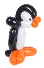 Penguin balloon animal