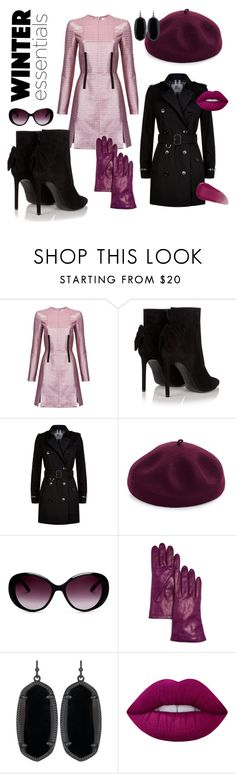 """""""winter essentials"""" by oksana-chmel ❤ liked on Polyvore featuring Carven, Yves Saint Laurent, Burberry, Kathy Jeanne, Moschino, Bloomingdale's, Kendra Scott, Lime Crime and Givenchy"""