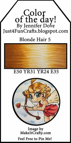 Copic Color Combos: Blonde Hair by Jennifer Dove