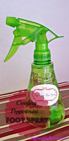 Cooling Peppermint Foot Spray Do your feet get achy from being on them all day? Do your legs get fatigued at the end of the day. Here's a great way to give them some cooling relief! Take a look at my simple recipe for cooling peppermint foot spray and save money!
