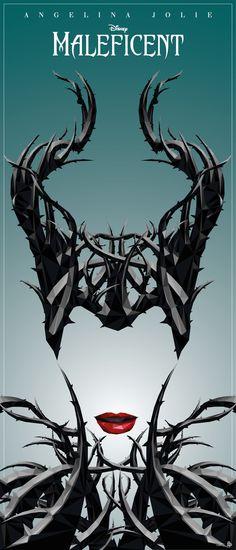 Disney's Maleficent movie poster by Simon Delart.