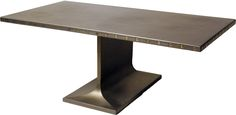 Steel Table With Brass Details  Industrial, Metal, Table by York Street Studio