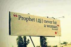 Profet never hit a woman