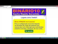 Site Binário 10   Vídeo Proposta   YouTube
