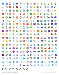 / flat-color-icons - The Scrapbook Collection Web Design, Icon Design, Flat Design, Free Html Templates, Ui Elements, Tips & Tricks, Free Graphics, User Interface Design, Flat Color
