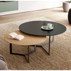 auxiliares - Muebles auxiliares -Muebles auxiliares - Muebles auxiliares - Choosing a coffee table can be maddening. Prices can be so distorted as to be laughable. When you do find … Fancy - Eclipse Table Couchtisch Mumma Norden Home Couchtisch Cool Coffee Tables, Round Coffee Table, Decorating Coffee Tables, Coffee Table Design, Modern Coffee Tables, Modern Table, Round Dining, Table Furniture, Home Furniture